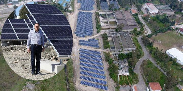Başkan Savaş, Güneş Enerji Santralini inceledi