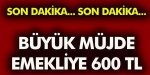 Emekliye Büyük Müjde 600 TL Zam!