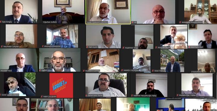 Saadet Partisi Video Konferans Yoluyla Bayramlaştı