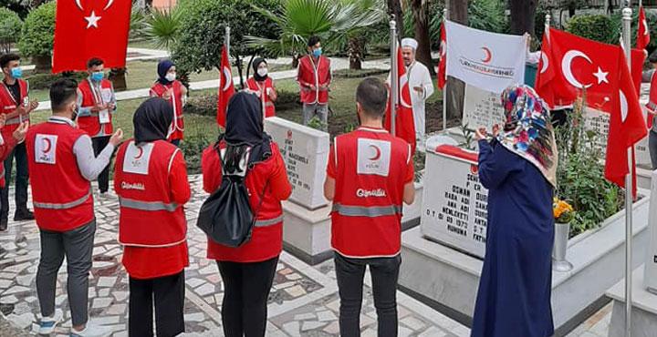 Türk Kızılayı Hatay Şubesi, Bayramda Şehitleri Unutmadı
