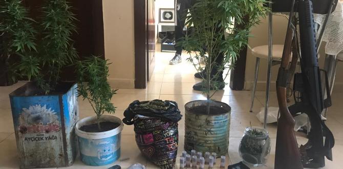 Hatay'Da Uyuşturucu Ve Ruhsatsız Tüfek Ele Geçirildi