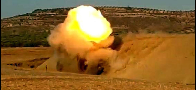 Afrin'De 75 Kilo Patlayıcı Yüklü Araç İmha Edildi