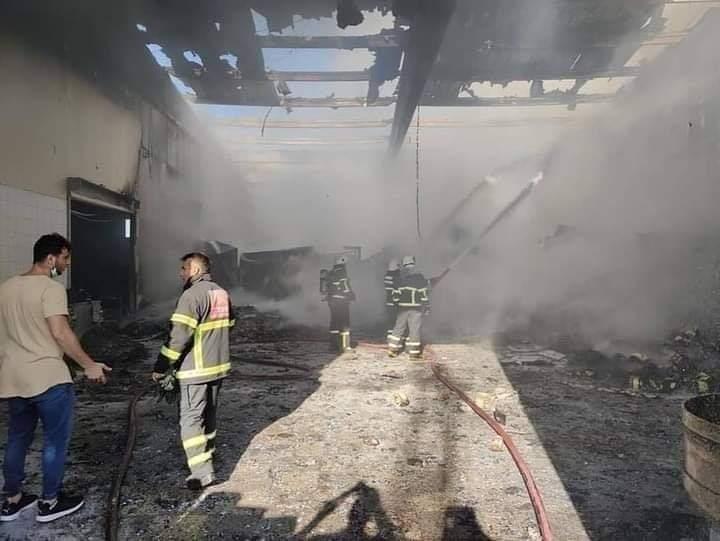 Hatay'Da Gıda Fabrikasında Yangın