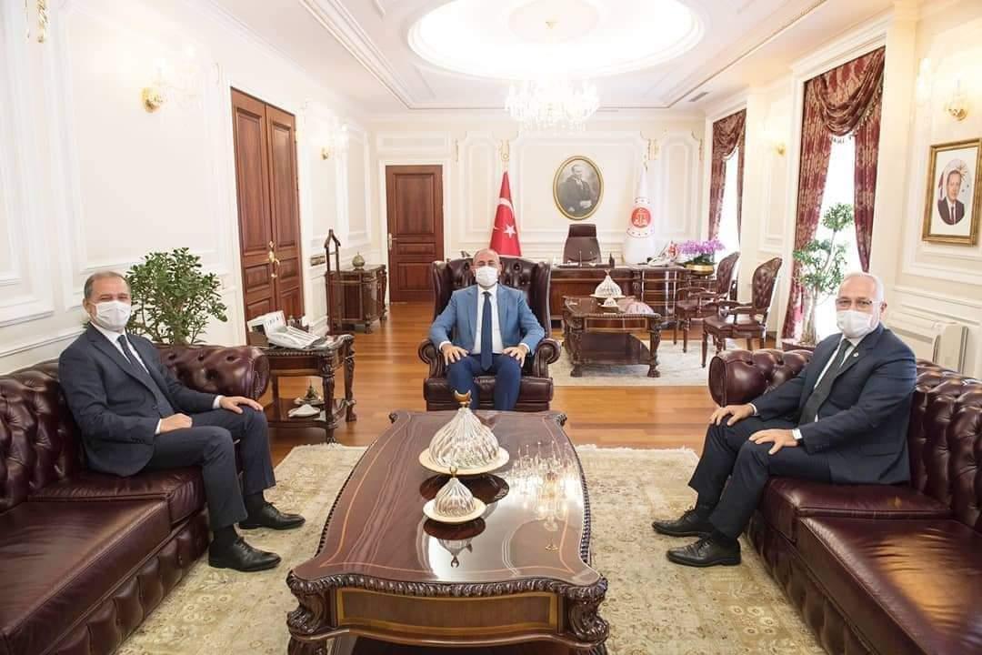 İskenderun Belediye Başkanı Fatih Tosyalı Adalet Bakanı Abdulhamit Gül' Ü Ziyaret Etti