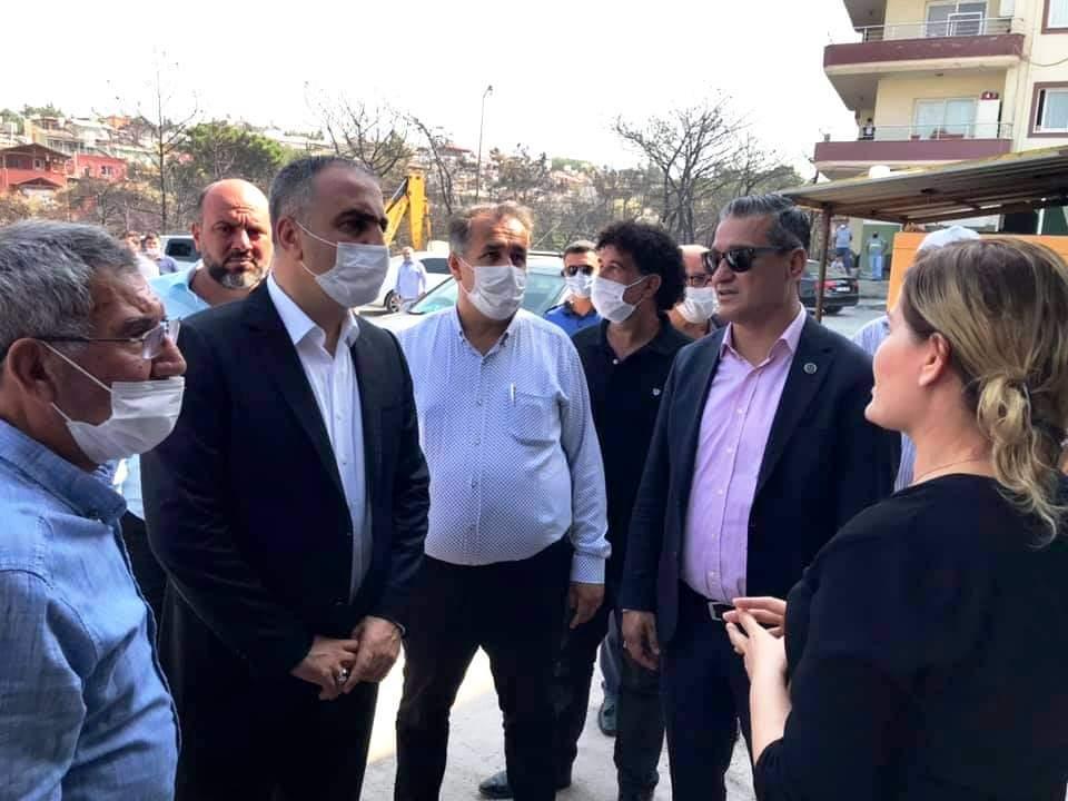 MHP Heyeti Yangınzadeleri Ziyaret Etti.