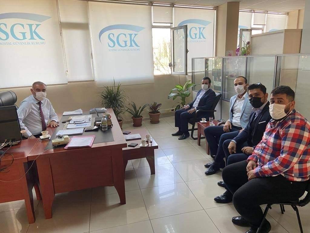 MHP kırıkhan İlçe Sosyal Güvenlik Kurumu  Müdürümüz Ömer sarp ziyaret Etti.