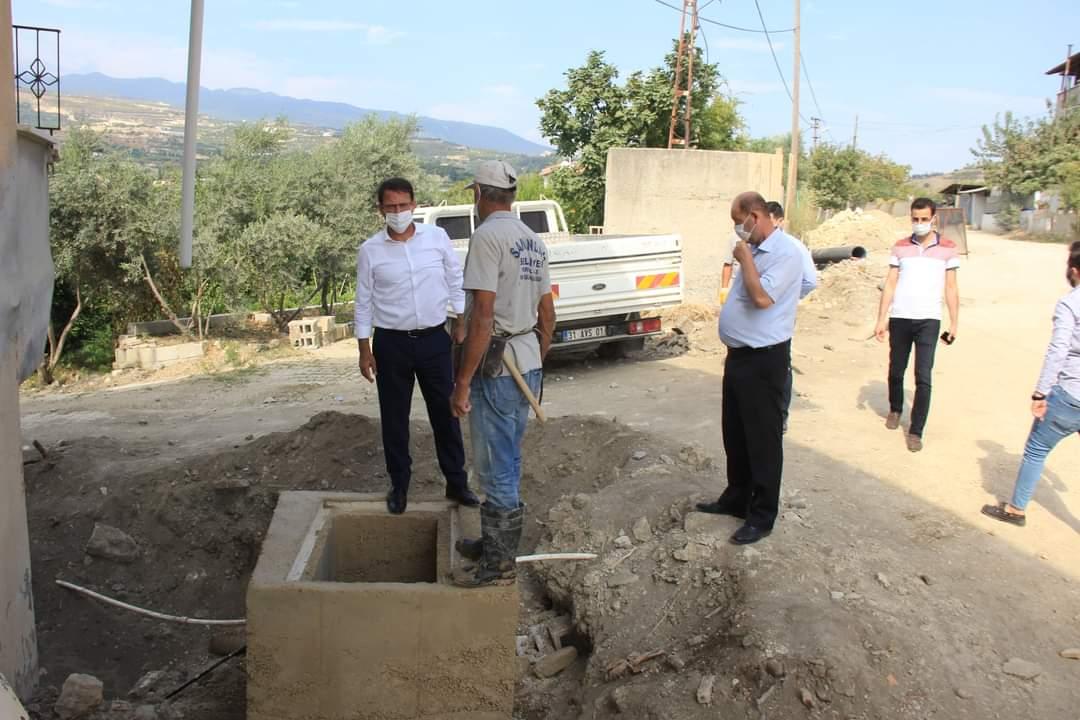 Samandağ Belediye Başkanı Eryılmaz Kurtderesi Mahallesindeki Çalışmaları İnceledi