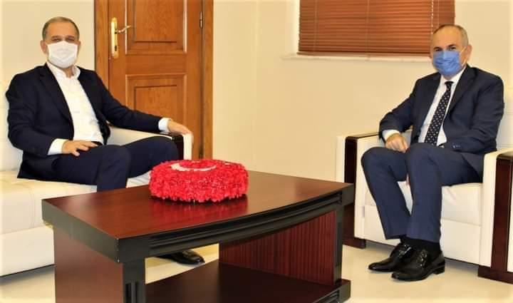 AK Parti Hatay Milletvekili Sn.Abdulkadir Özel, Kaymakamımız Sn. İskender Yönden'i Ziyaret Etti