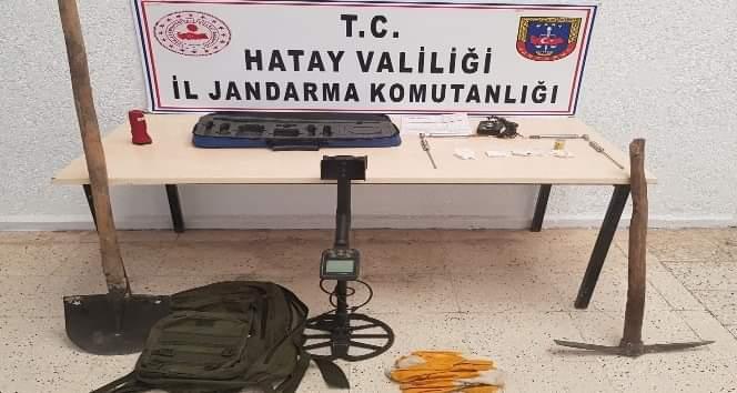 Arsuz'Da Kaçak Kazı Yapan 4 Kişi Yakalandı