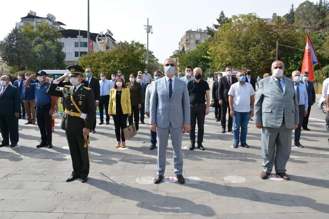 Kırıkhan'da Cumhuriyet Bayramı münasebetiyle Çelenk SunumTöreni Yapıldı