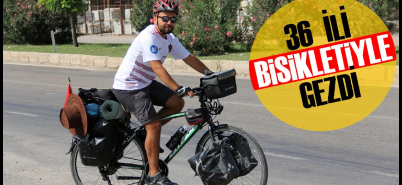 Türkiye'Yi Gezme Hayalini Pedal çevirerek Gerçekleştiriyor