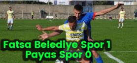 Fatsa Belediye Spor 1 Payas Spor 0