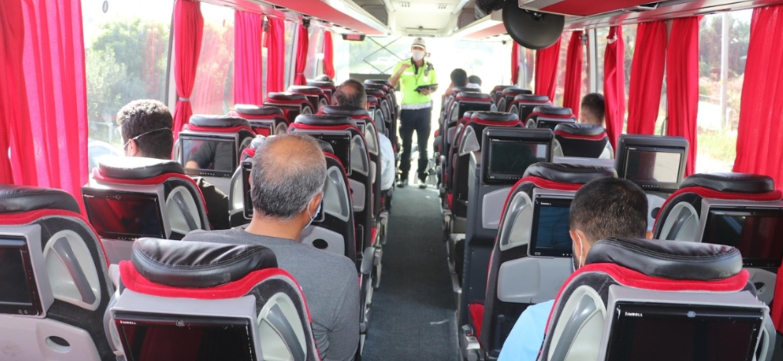 Hatay'Da Toplu Ulaşım Araçlarında Kovid-19 Denetimi