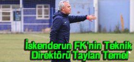 İskenderun FK'Nin Teknik Direktörü Taylan Temel