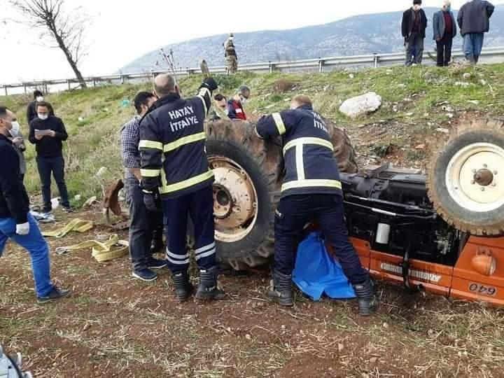 Hatay'Da Traktör Kazası 1 Ölü