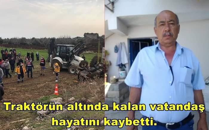 Traktörün Altında Kalan Vatandaş Hayatını Kaybetti.