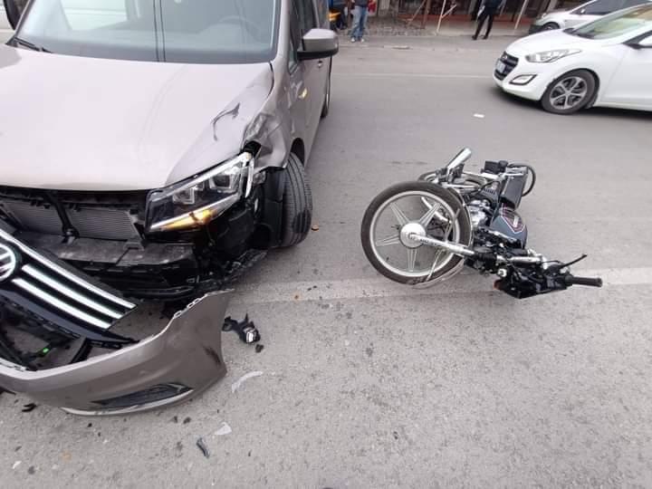 Motosiklet Otomobil Kazası 2 Yaralı