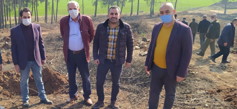 Kırıkhan'da Yanan Mesire Alanı HBB Tarafından Ağaçlandırılıyor