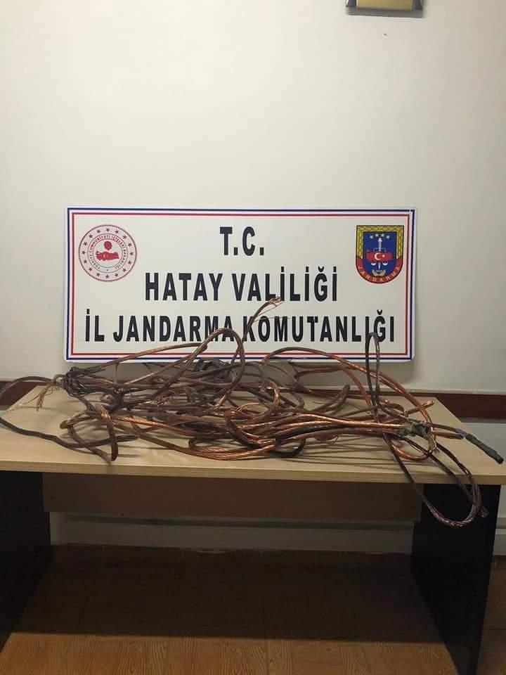 Hassa'Da Elektrik Kablosu Çalan Şüpheli Gözaltına Alındı!