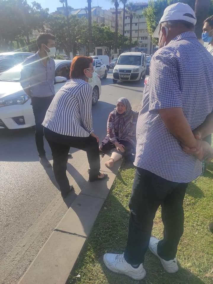 Yaralı Kadının Yardımına Milletvekili Suzan Şahin Koştu