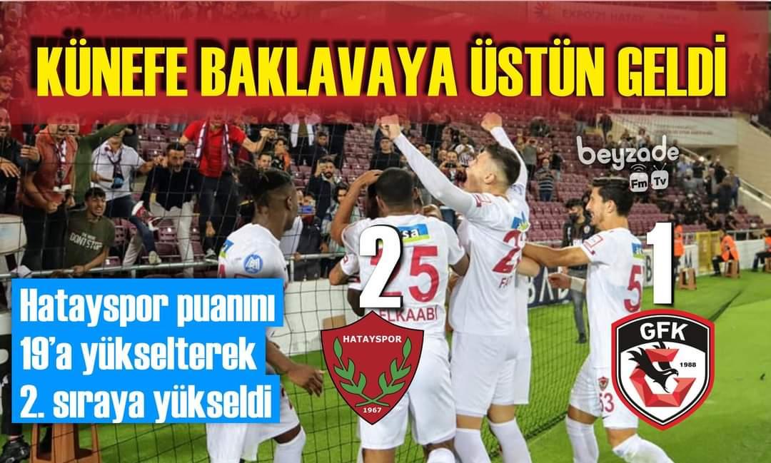 Atakaş Hatayspor, Ligin 9. Haftasında Konuk Ettiği Gaziantep FK'yı 2-1 Devirdi