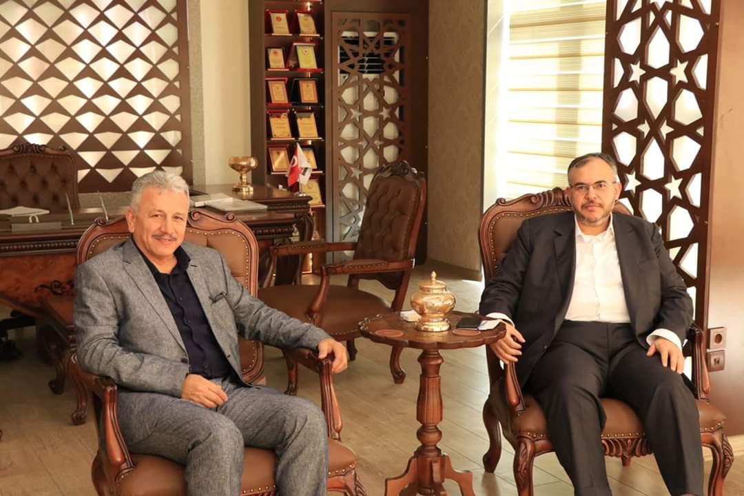 Diyanet-Sen Hatay Şube Başkanı Urhan, Çalışkan'ı Ziyaret Etti