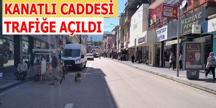 Kırıkhan'da Kanatlı caddesi Trafiğe Açıldı.