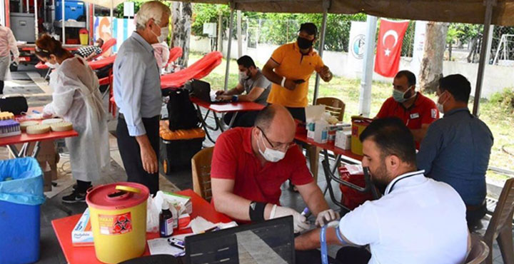 Arsuz'da Kan ve Kök Hücre Bağış Kampanyasına Yoğun İlgi