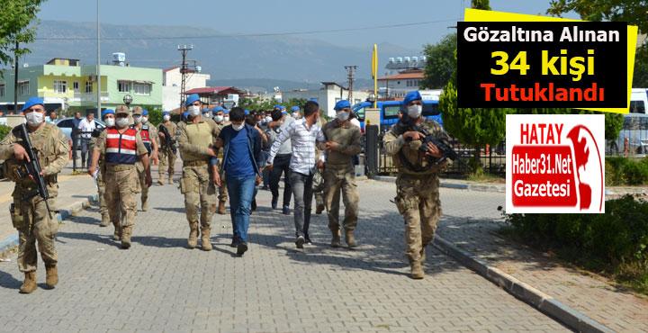 Mahkemeye çıkarılan 39 şüpheliden 34'ü tutuklandı