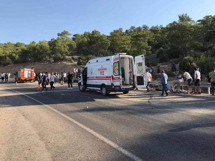 Mersin'den KKTC'ye doğru yola çıkan askerleri taşıyan otobüs devrildi: 5 asker şehit