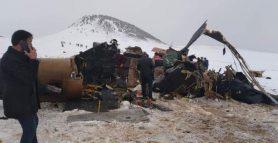 Bitlis'te askeri helikopter düştü: 11 şehit, 2 yaralı