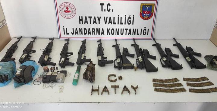 Amanoslarda 2 Ayrı Sığınakta Silah ve Mühimmatlar Ele Geçirildi