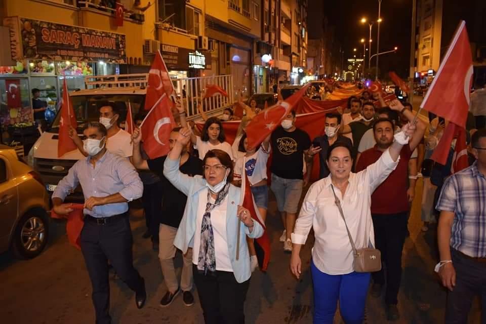 CHP Hatay Milletvekili  Suzan Şahin İskenderun'Da Zafer Coşkusu