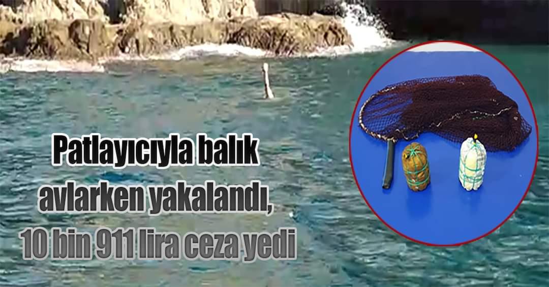 Hatay'Da Dinamitle Balık Avlayan Kişiye 11 Bin Lira Ceza